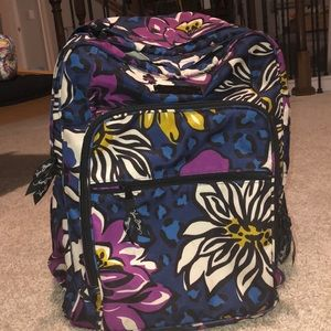 New Vera Bradley Large Student Backpack
